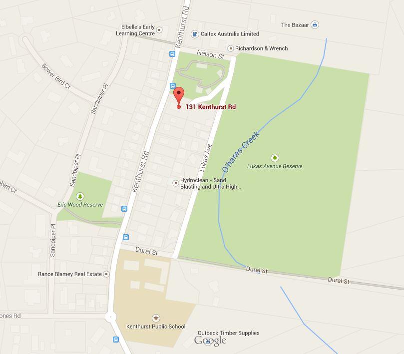 Map of The Studio Kenthurst dance classes for kids
